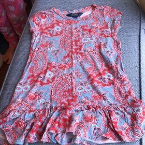Polo Ralph Lauren paisley shirt dress size 4/4T